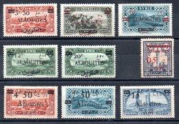Alaouites Y&T 35*, 36* (surcharge Maigre), 38* - 41*, 44* - 46* - Alaouites (1923-1930)