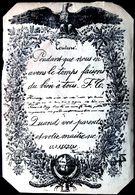PEDAGOGIE ENSEIGNEMENT ECOLE BEAU PLACARD D'ECRITURE 15 X 10 CM  BELLE CALLIGRAPHIE 19° - Cartes Postales