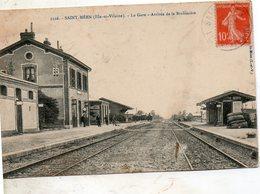 St - Méen -   La  Gare  Arrivèe  De  La  Brohière. - Autres Communes