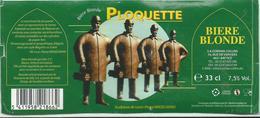 étiquette Décolle Bière Ploquette Brasserie De Silly - Bière