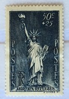 YT 352 (*) MH 1937 Au Profit Réfugiés Politiques 50c+25c Bleu-gris (côte 4 Euros) – Bleu2 - France