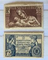 YT 356 & 357 MH (*) 1937 Prophylaxie Sanitaire Constitution Des Etats-Unis (côte 6,85 Euros) – Cklot - France