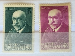 YT 377, 377A (*) MH 1938 Effigie De Charcot Vert-bleu Lilas-rose (côte 14,60 Euros) – Kr0lot - France