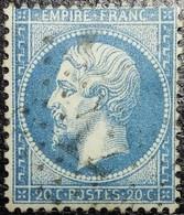N°22. Belle Variétés (Impression Floue) Oblitéré étoile De Paris N°12. Superbe - 1862 Napoléon III