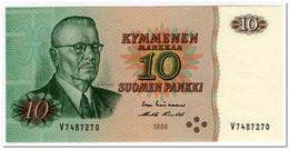 FINLAND,10 MARKKAA,1980,P.111,AU-UNC - Finland
