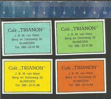 T44 - NIJMEGEN - CAFÉ TRIANON - DUTCH MATCHBOX LABELS - Cajas De Cerillas - Etiquetas