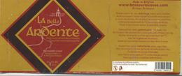 étiquette Décollée Bière La Belle Ardente Brasserie Cosse Grace-Hollogne - Bière