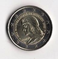 ** RARE 2 EUROS MONACO 2012 LUCIEN 1er NEUVE  ** - Monaco