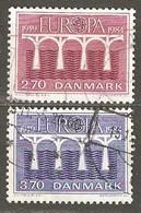 Denmark:  Full Set Of 2 Used Stamps, EUROPA - 25 Years Of CEPT, 1984, Mi#806-807 - Dänemark