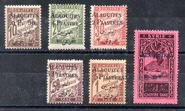 Alaouites Porto Y&T T 1* - T 5*, T 7* - Alaouites (1923-1930)