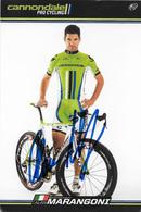 CARTE CYCLISME ALAN MARANGONI SIGNEE TEAM CANNONDALE 2013 - Wielrennen