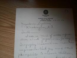 Robert Earl Montee Pittsburg Kansas Signatures  Royal Jugoslav Legation Washington 1935 - USA