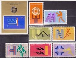 629 - Cuba - 1972 - Olympics - Block + 7v - MNH - Lemberg-Zp - Cuba