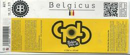 étiquette Décollée Bière Belgicus Gold Brasserie Belge Herstal - Bière