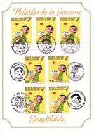 B01-132 2484 BD Carte Souvenir FDC Rare Guust Flater Gaston Lagaffe Franquin 10-10-1992 1000 Bruxelles7 Cachets Préve - Souvenir Cards