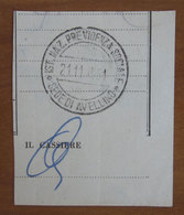 Timbro Italia  INPS Avellino  - Frammento - Seals Of Generality