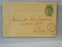 ENTIER POSTAL BELGIQUE OBLIT DE NAMUR STATION 1905 SUR 5c ARMOIRES VERT + MESSINES DOS LEOPOLD I & II - Postwaardestukken
