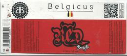 étiquette Décollée Bière Belgicus Red Brasserie Belge Herstal - Bière
