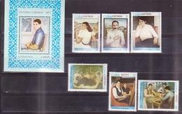 633 - Cuba - 1977 - Paintings - Block + 6v - MNH - Lemberg-Zp - Cuba
