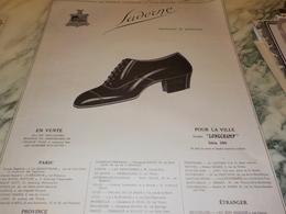 ANCIENNE PUBLICITE CHAUSSURE SADERNE REPRESENTE LA PERFECTION 1921 - Vintage Clothes & Linen