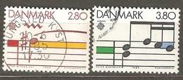 Denmark:  Full Set Of 2 Used Stamps, EUROPA - Music Year, 1985, Mi#835-836 - Dänemark