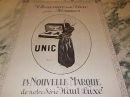 ANCIENNE PUBLICITE  LA NOUVELLE MARQUE DE LUXE CHAUSSURE UNIC 1923 - Vintage Clothes & Linen