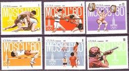 638 - Cuba - 1979 - Olympic 1980 - 6v - MNH - Lemberg-Zp - Cuba