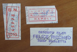 Timbro Italia  Lotto X 3  - Frammento - Seals Of Generality