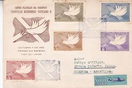 CONCILIO ECUMENICO VATICANO II. PARAGUAY FDC ENVELOPPE ANNEE 1962, CIRCULEE A RIVERA INDARTE, ARGENTINE -LILHU - Paraguay