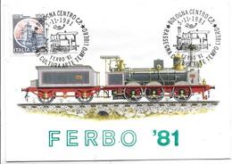 1875 - Locomotiva A Sei Ruote Accoppiate - Costruita Da G. Sigl A Wiener Neustadt - Annullo Ferbo 81 (Bologna). - Eisenbahnen