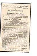 Bidprentje - Brossé - Beyens - Nazareth - Drongen - Religion & Esotérisme