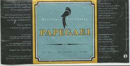 étiquette Décollée Bière Papegaei Brasserie Verstraete Diksmuide - Bière