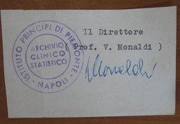 Timbro Italia Archivio Clinico Statitico - Napoli - Frammento - Seals Of Generality