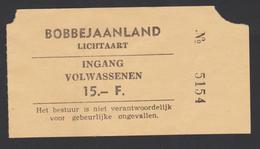 Ticket - Inkom Bobbejaanland - Lichtaart- Inkom Volwassenen - Tickets D'entrée