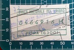Timbro Italia  Banca Nazionale Del Lavoro - Roma - Frammento - Seals Of Generality