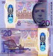 BANK OF SCOTLAND, £20 POUNDS, 2020, P-NEW, POLYMER, NEW DESIGN, UNC - Scozia