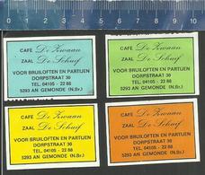 Z30 - GEMONDE - CAFÉ DE ZWAAN - ZAAL DE SCHUIF - DUTCH MATCHBOX LABELS - Zündholzschachteletiketten