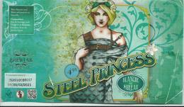 étiquette Décollée Bière Steel Princess Brasserie Brewlab Verviers - Bière