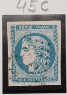 Emission De Bordeaux N° 45C Avec Oblitération Losange TB - 1870 Bordeaux Printing