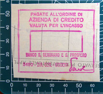 Timbro Italia  Banca Banco S. Geminiano E S. Prospero - Modena - Frammento - Seals Of Generality