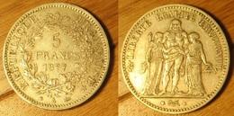 5 Francs 1877A - J. 5 Francs