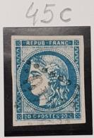 Emission De Bordeaux N° 45Ca (Bleu Foncé) Avec Oblitération Losange TB - 1870 Emission De Bordeaux