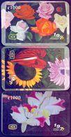 Used Phone Cards Costa Rica - Flora De Costa Rica 3V. - Costa Rica