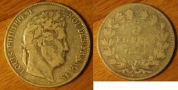 Louis-Philippe - 5 Francs 1844BB - J. 5 Francs