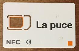 LA PUCE ORANGE CARTES SIM GSM SANS PUCE QUE LE SQUELETTE PHONECARD TELECARTE CARD - Nachladekarten (Handy/SIM)