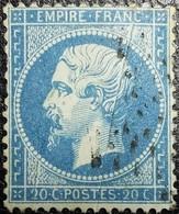 N°22. Variétés (Voir Point Dans Valeur Et Dans L'écusson) Oblitéré étoile De Paris - 1862 Napoléon III