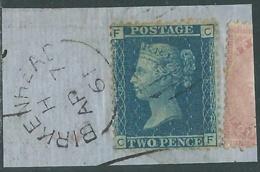 1858-79 GREAT BRITAIN USED SG 45 2d PLATE 8 (CF) - RC58 - Gebruikt