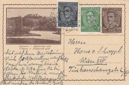 Yugoslavia 1933 Picture Postal Stationery - Ljubljana - Postwaardestukken