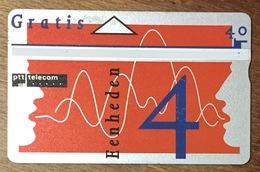 PTT TELECOM EENCHEDEN 4 PAYS BAS NEDERLAND CARTE PREPAID PHONECARD - Nederland