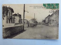 C. P. A. : 33 SALLES : Route Arcachon Biarritz, Timbre En 1913 - Autres Communes